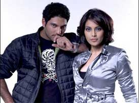 Bipasha and Yuvraj's day out