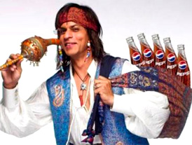 Oldie Shah Rukh ousted from Pepsi ad