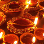 Early morning Diwali festivities in Tamil Nadu