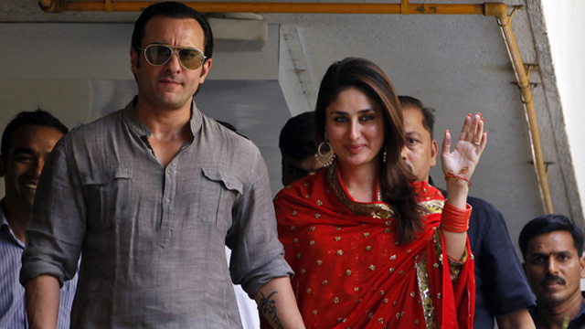 Bollywood saif ali Khan and Kapoor tie the knot