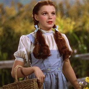 Judy Garland's dress in `Wizard of Oz` made from cheapest material