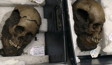 500-year-old skulls found in Mexico