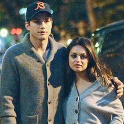 Ashton Kutcher, Mila Kunis enjoy date in Rome