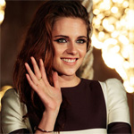 Kristen Stewart reveals bra in see-through top
