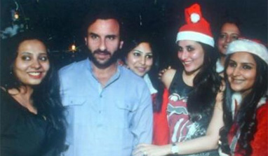 Kareena and Saif usher in Christmas with close friends!
