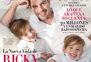 Ricky martin shows off twin sons in magazine cover shoot zee news