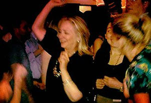 Hillary Clinton turns dance floor sensation at Colombia nightclub