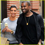 Kanye takes Kim around Paris in Lamborghini she bought for his b'day