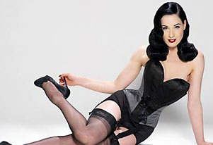 Dita Von Teese worked in strip clubs