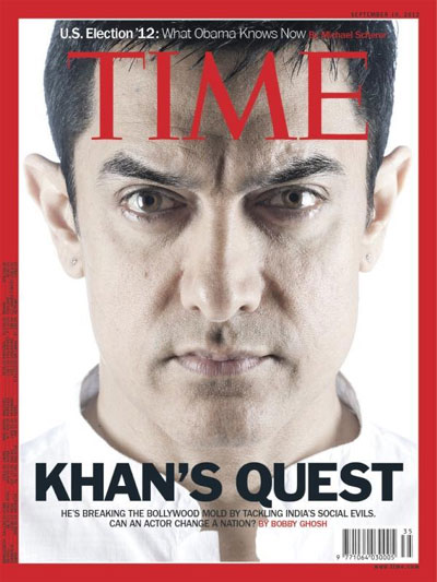 Aamir Khan's 'Satyamev Jayate' takes him to the cover of Time Magazine