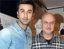 Ranbir Kapoor with Anupam Kher at Actor Prepares