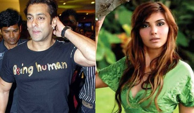 ★ Salman Khan sends an invite to Somy Ali (to visit to the 'Being Human' stores)?  Salman-Somy-382