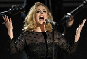 Robbie Williams` wife helps Adele overcome stage fright