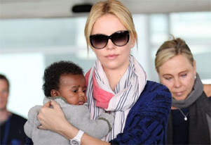 Charlize Theron hosts birthday party for son