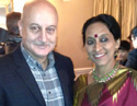 Anupam Kher at Oscar Nomination Party