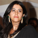 Ekta Kapoor taking part in `Daayan Mukti Yagna` at Maha Kumbh