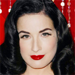 Dita Von Teese strips down to glittery undies for new music video