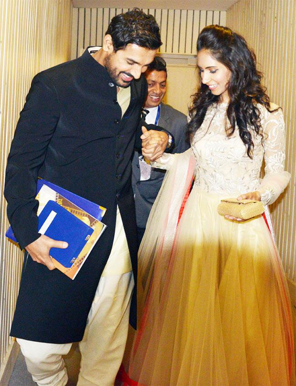 John Abraham snapped with Priya Runchal at the recently held National    John Abraham Priya Runchal 2013