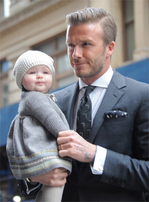 David Beckham loves styling daughter
