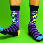 Colourful socks trending among fashion loving men