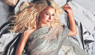 Paris Hilton flaunts Indian designers` creation