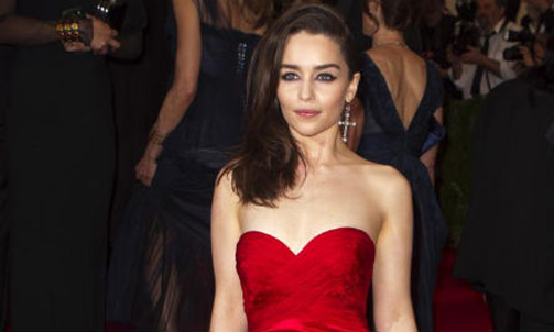 Emilia Clarke is 'unrecognizable' without blond wig from 'Game of ... Christian Bale