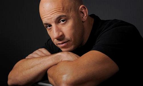 Vin Diesel poses naked