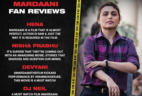 Rani Mukerji as 'Mardaani'